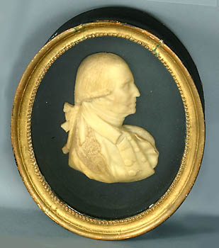 Portrait in relief of George Washington